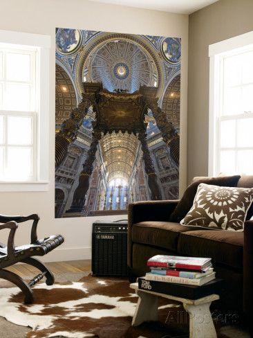 オールポスターズの ミーケイレイ・フォールゾーン「Detail of Bernini's Baroque Baldachin, St Peter's Basilica, Rome, Italy」ウォールミューラル