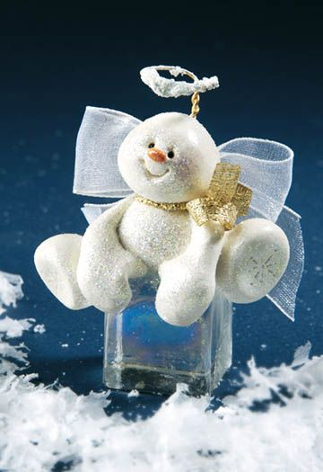 Clay Snow Angel Ornament
