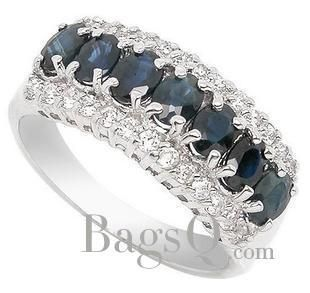 Beautiful 925 silver natural sapphire ring $94.99