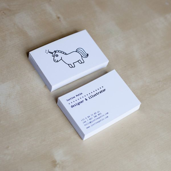 Justine Potin – Personal Branding, carte de visite, business card, visual identites, illustration