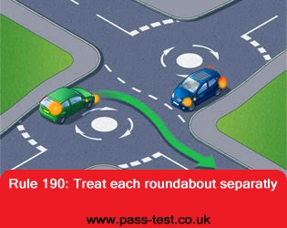 Treat each roundabouts seperately
