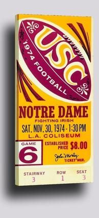 #contentfirst #mobilefirst #la #losangeles #mcommerce #growthhack #Pinterest #growthhacking #socialbiz #socialselling #startup Row One Brand sports gifts and vintage sports art. 1974 USC vs. Notre Dame