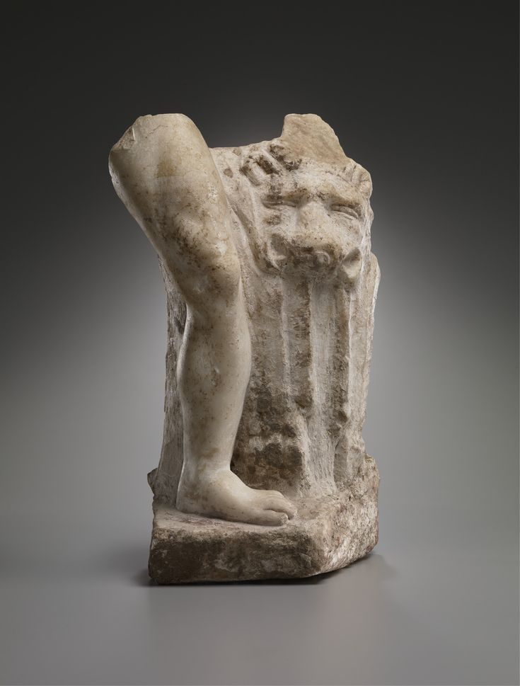 Fragment of a statue of Herakles; Roman, Tunisian; 1st-3rd century A.D; Marble | The Yale University Art Gallery
