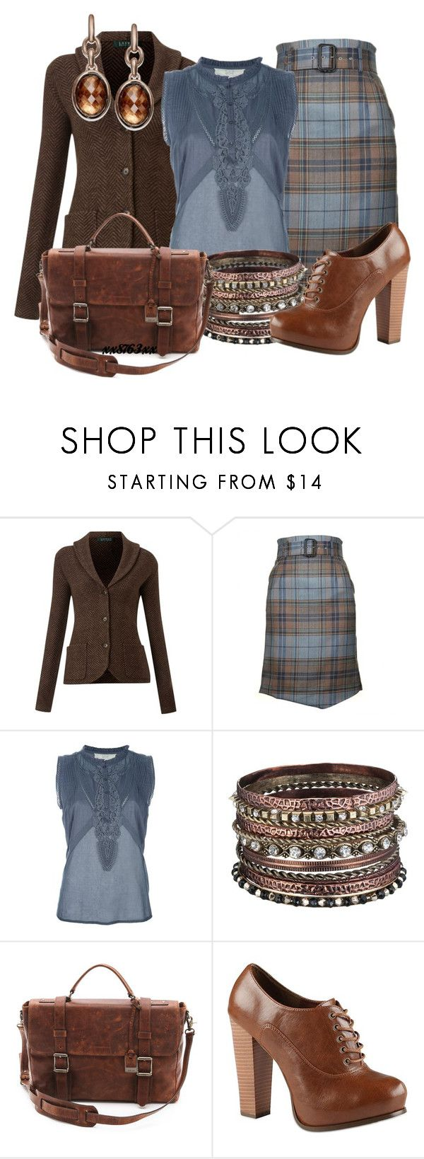 """""""Business Tweed"""" by xx8763xx ❤ liked on Polyvore featuring Lauren Ralph Lauren, Vivienne Westwood Red Label, Vanessa Bruno Athé, Frye, Call it SPRING and Bronzarte"""