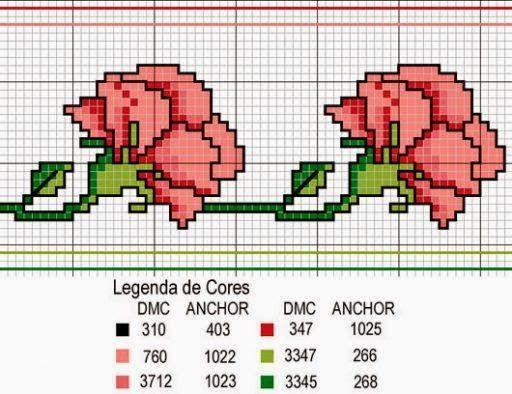 Χειροτεχνήματα: Σχέδια για λουλουδάτα κεντήματα / Flower cross stitch patterns:
