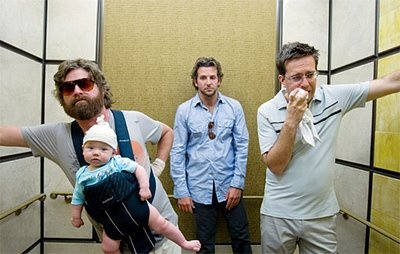 "Alan Garner (Zach Galifianakis): [repeatedly singing] ""And we're the three best friends that anyone could have!"" -- from The Hangover (2009) directed by Todd Phillips"