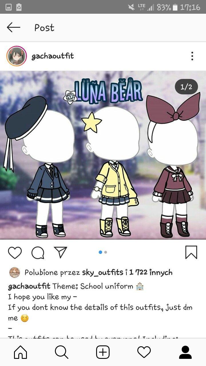 School Uniforms Gacha Life : school, uniforms, gacha, Uniformes, Gacha, Anime, Outfits,, Character, Manga, Clothes