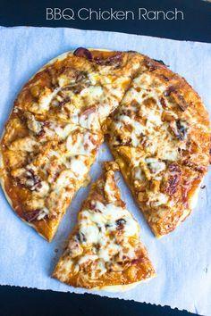 BBQ Chicken Ranch Pizza - Brunch Time Baker