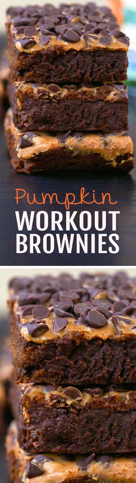 Ultra fudgy pumpkin #recipe #brownies, without all the extra fat and calories, these healthy pumpkin brownies are amazing!