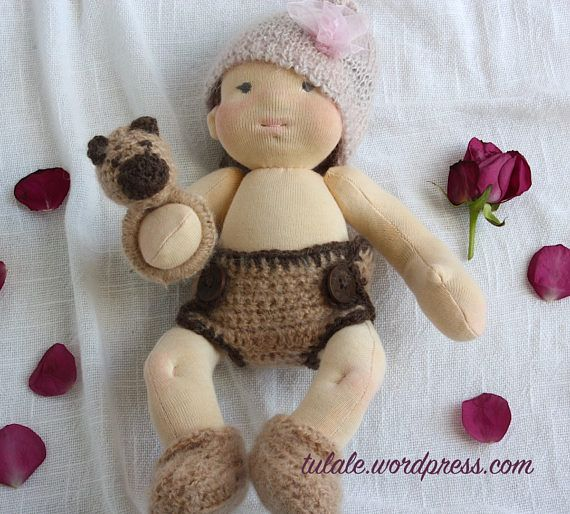 OOAK Waldorf doll clothes Set for baby dolls 12  18 inch: