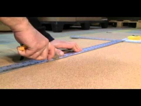How to install corkboard roll onto drywall. Step by Step instructions. Very basic stuff.