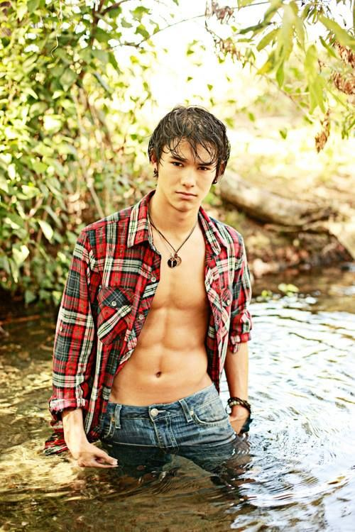 Native-American Teen Sexy Male Model First Nation Handsome -8172