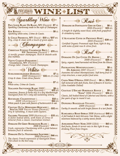 Best restaurant menu design images on pinterest