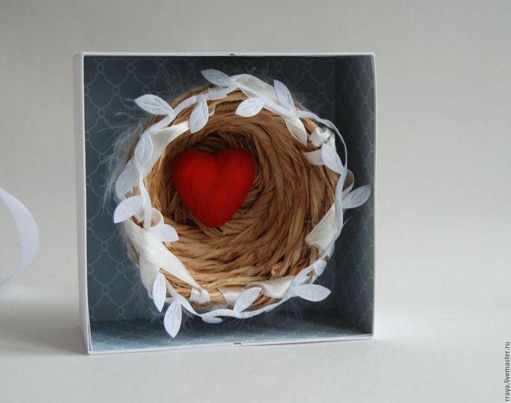 """Купить коробочка для денег с гнездышком """"Голуби"""" - свадебная открытка, авторская открытка, поздравительная открытка, свадебное"""