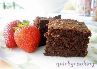 Flourless Choc Hazelnut Brownies by Quirky Cooking - Gluten Free & Dairy Free!!