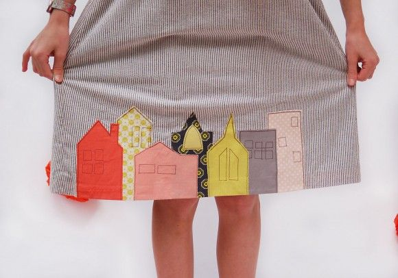 Raw edge #applique #sewing #tutorial from Oliver + S, a really cute way to add embellishment on new or old garments!