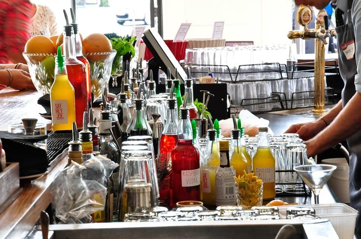 Behind the bar at Joe's Bar