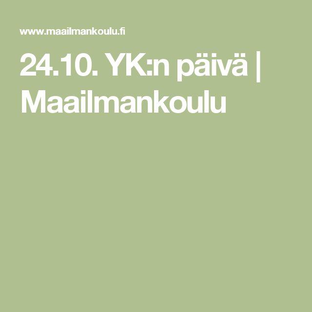 24.10. YK:n päivä | Maailmankoulu