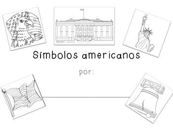 American Symbols Writing and Coloring Book in SPANISH: Símbolos Americanos