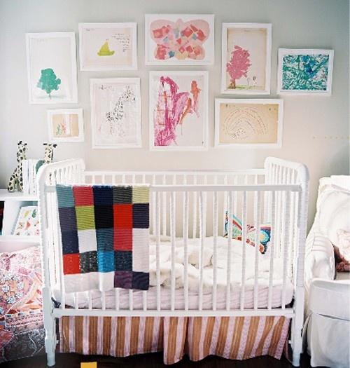 framed childrens art
