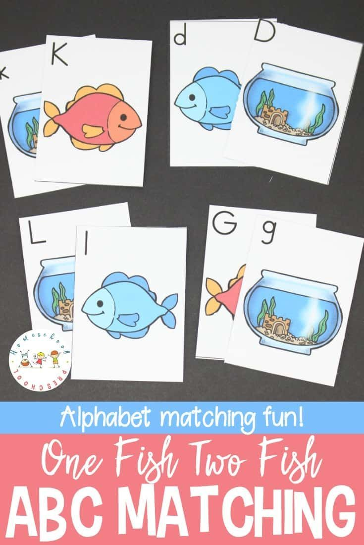 Free Abc Handwriting Practice Pages For Preschool Alphabet Matching Alphabet Printables Fish Activities