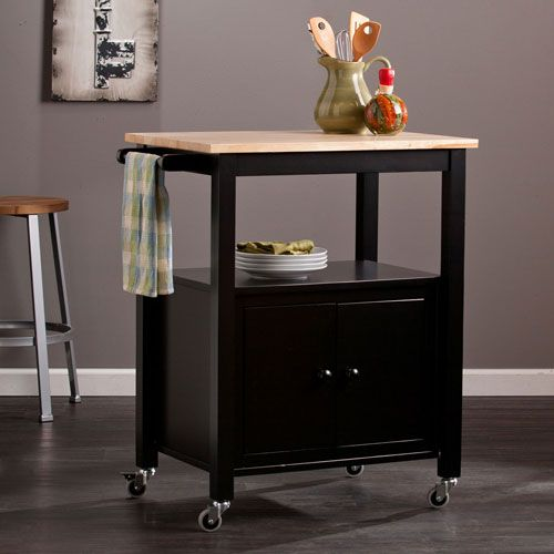 Kenner Kitchen Cart   Black