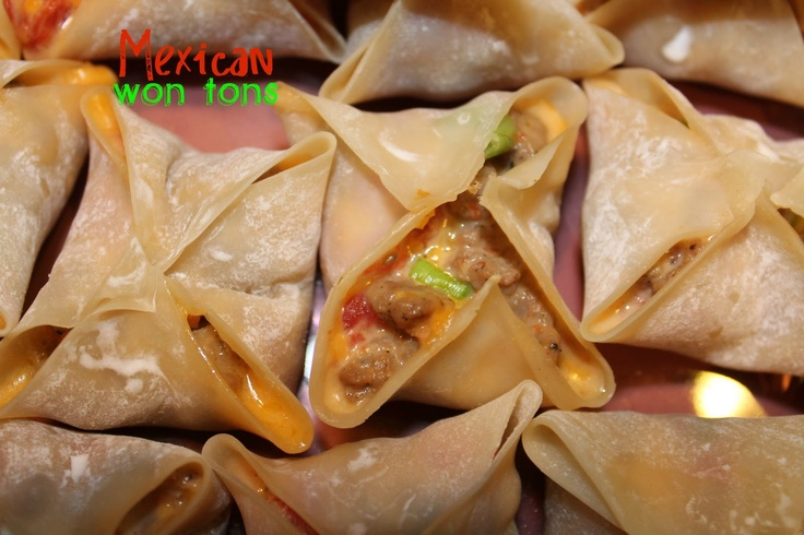 Mexican Won Tons: Mexicans, Food, Mexican Wontons, Cargile Family, Appetizers, Favorite Recipes