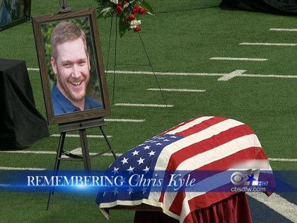 Chris Kyle memorial. At a football stadium for thousands of people to see.