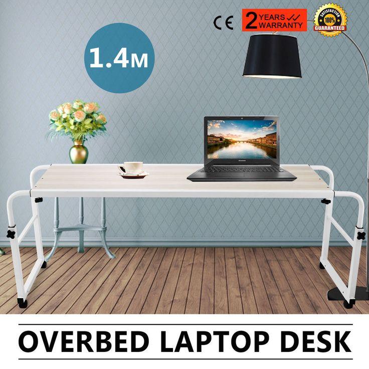 1.4m Over Bed Trolley Laptop Desk Home Display Hospital Patient Table Adjustable #Vevor