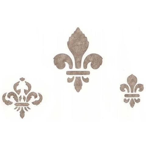 Classic Fleur de Lis Set 2 Stencils for Crafts and Wall Art Decor - Royal Design Studio