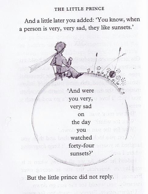 The little prince quote. I love this book, it's one of my favorites. Not only is the story wonderful, I can also hear my dad's voice when I read it. Thanx Daddy.