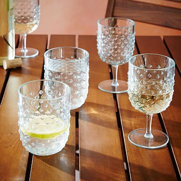 Hobnail Acrylic Glassware #westelm