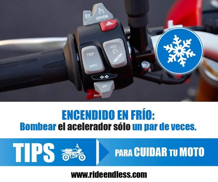 Cuida tu moto durante el encendido en frío.  Realizar esta función en la mañana no es fácil, la temperatura del aceite está muy por debajo de los 84°C y se encuentra todo depositado en la parte inferior. Los continuos intentos de encendido producen el mayor desgaste en el motor. Para evitar esto es prudente bombear el acelerador sólo un par de veces, esto activa el flujo de gasolina y facilita el encendido. #RideEndless #Tips #BMW #Motorrad #TipRideEndless