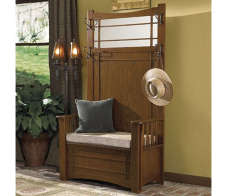 Powell Mission Oak Hall Tree with Storage Bench - 69 Best Hall Tree Furniture Images On Pinterest Tree Furniture