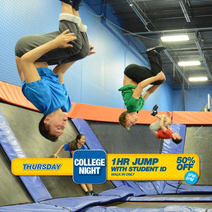 Join us tonight for College Night and get 50% off one-hour jump with your Student ID! #skyzoneminneapolis #skyzone #minneapolis #minnesota #igers #bounce #kids #teenagers #trampoline #love #instagood #me #cute #picoftheday #play #fitness #health #foampit #exercise #openjump #gymnastics #jumphigh #tumbling #workout #fit #fitness #trampoline #birthdayparty  13310 Industrial Park Blvd. Suite 160 Plymouth, MN 55441  (763)-331-3511