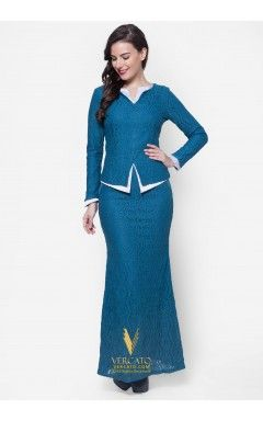 Baju Kurung Moden Lace - Vercato Alice in Green