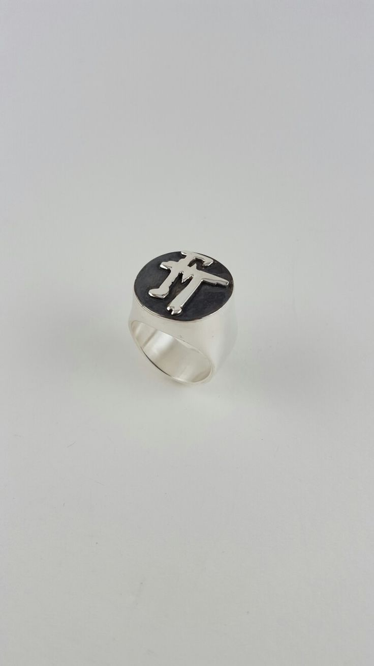 Silver Ring 950 ,Oxidised