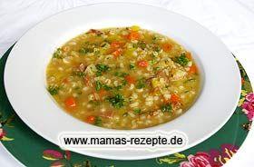 Gerstensuppe | Mamas Rezepte - mit Bild und Kalorienangaben