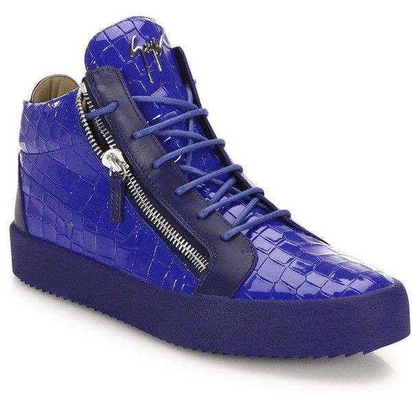 Giuseppe Zanotti Leather & Suede High-Top Sneakers ($382) ❤ liked on Polyvore featuring men's fashion, men's shoes, men's sneakers, men's shoes - designer shoes, mens black hi top sneakers, mens high top sneakers, mens high top shoes, mens leather lace up shoes and giuseppe zanotti mens shoes