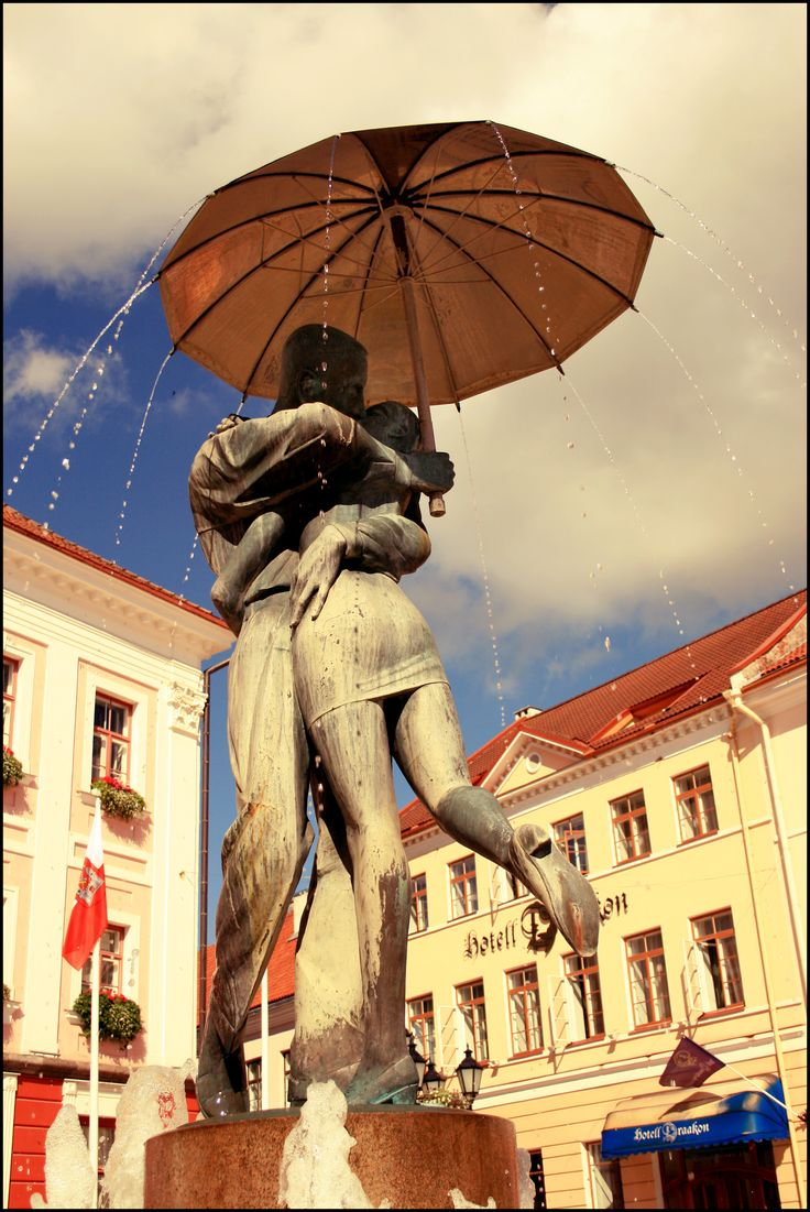 Kissing students fountain in Tartu, Estonia Tartu is called the intellectual city of Estonia. find out yourself.