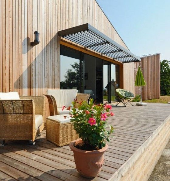 110 best Paresoleil images on Pinterest Canopy, Canopies and Decks - construire sa maison en bois prix