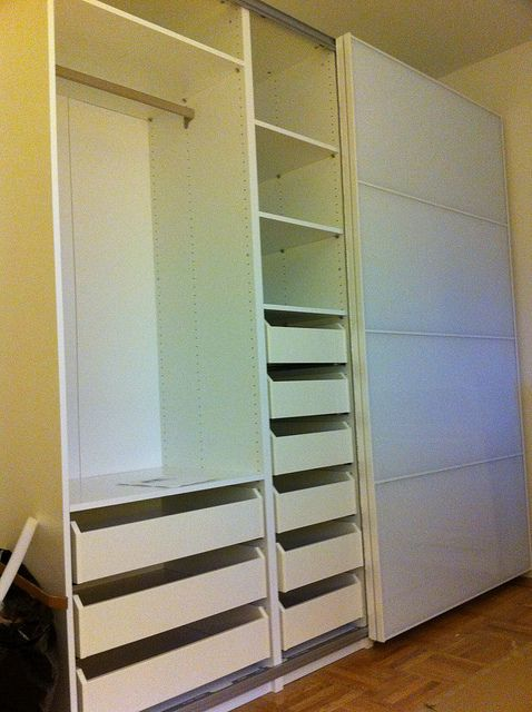 IKEA Pax Wardrobe with Drawers - White by Furniture Assembly Service & More, via Flickr