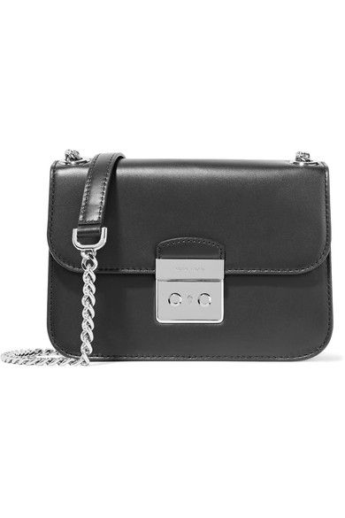 MICHAEL Michael Kors - Sloan Editor Leather Shoulder Bag - Black - one size