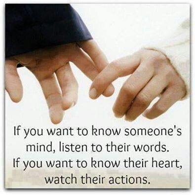 ~ Listen & Watch ~ ... seek out those who treat others as you would have them treat you <3