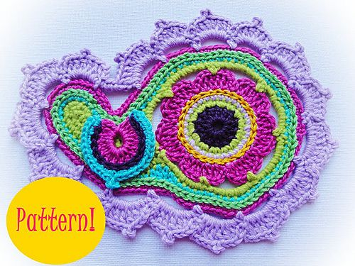 Ravelry: Paisley Flower( Images)Crochet Pattern pattern by Maria Manuel