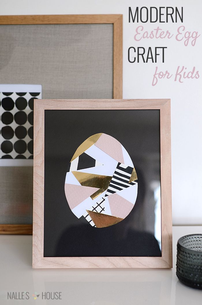 @Anu (Nalle's House) shares a #DIY project that's perfect for the kids: Framed Modern Easter Egg made from paper scraps! /ES