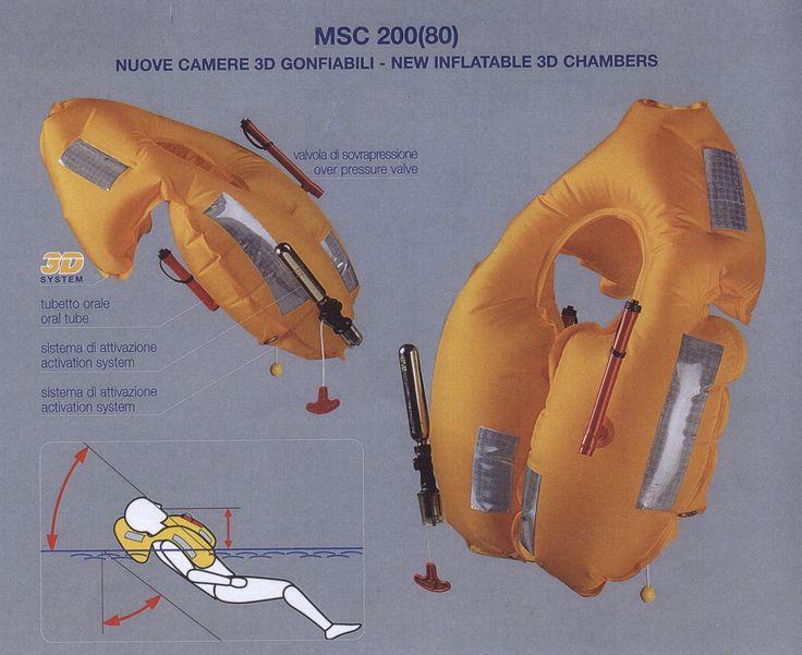 275 Newton 3 hava boşluklu şişme tam otomatik en son SOLAS düzenlemesine uygun can yelekleri Gemiyap'da