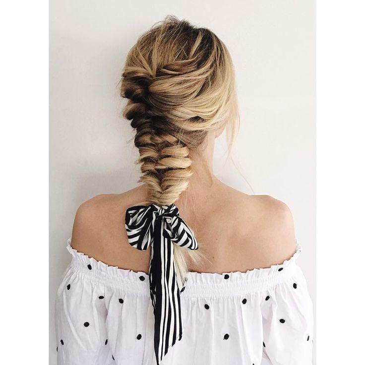 On Fridays we wear braids ️ • • • #braid #braidedhairstyles #blondebraids #blon…, #Hairstyles2019,'#fashionhair #hairstylist #longhair #h…