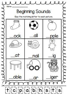 The 25+ best Beginning sounds worksheets ideas on Pinterest ...