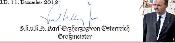 Signature of Archduke Karl von Habsburg
